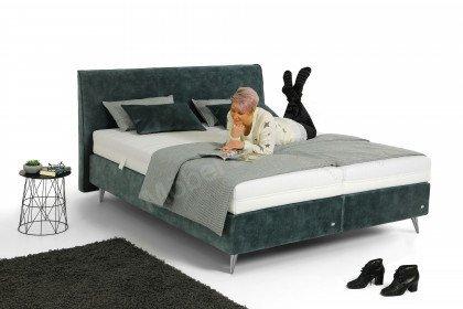 Amado von Ruf Betten - Boxspringbett in Grey-Blue