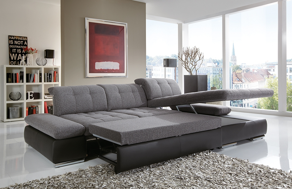 poco houston ecksofa in anthrazit schwarz m bel letz ihr online shop. Black Bedroom Furniture Sets. Home Design Ideas
