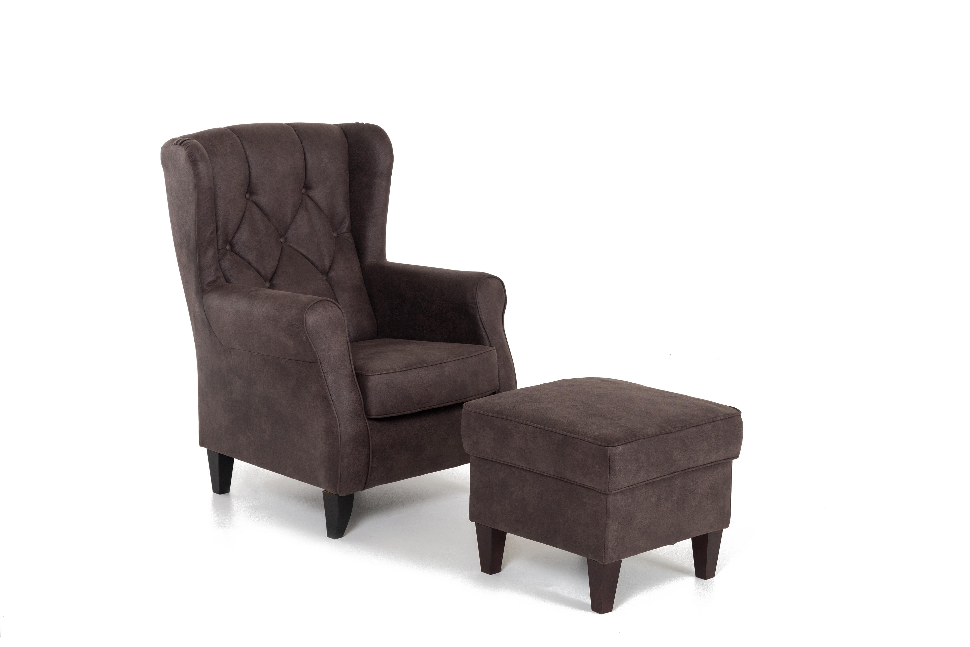 sessel sherman braun von dfm polsterm bel m bel letz ihr online shop. Black Bedroom Furniture Sets. Home Design Ideas