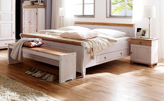 Massivholz-Schlafzimmer im Landhausstil Oslo/ Alesund von Euro ...
