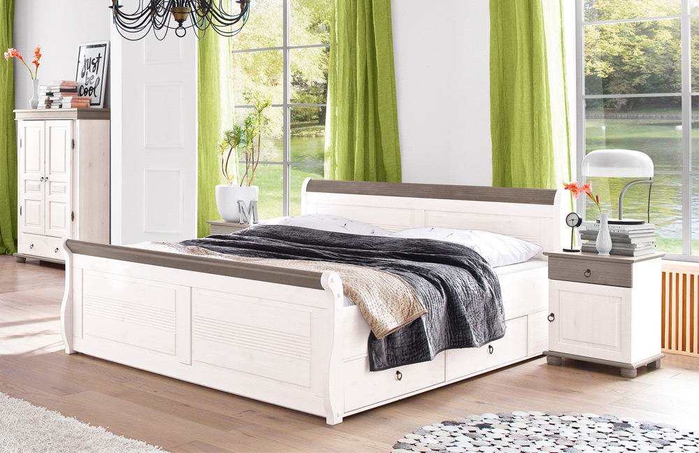 massivholz schlafzimmer oslo mit landhaus atmosph re von euro diffusion in wei lava m bel letz. Black Bedroom Furniture Sets. Home Design Ideas