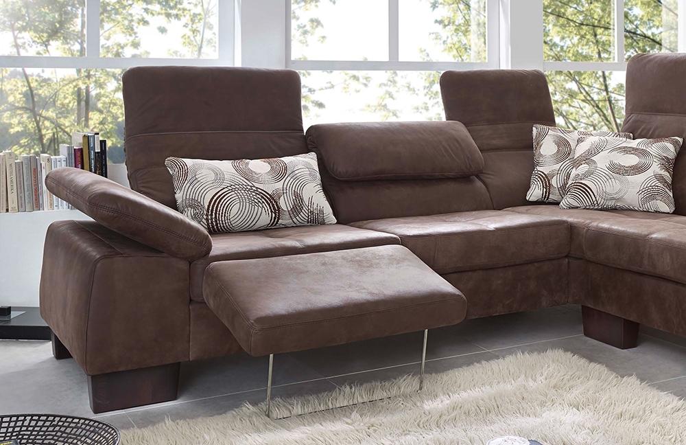 f s polsterm bel 211 caro eckgarnitur braun m bel letz ihr online shop. Black Bedroom Furniture Sets. Home Design Ideas