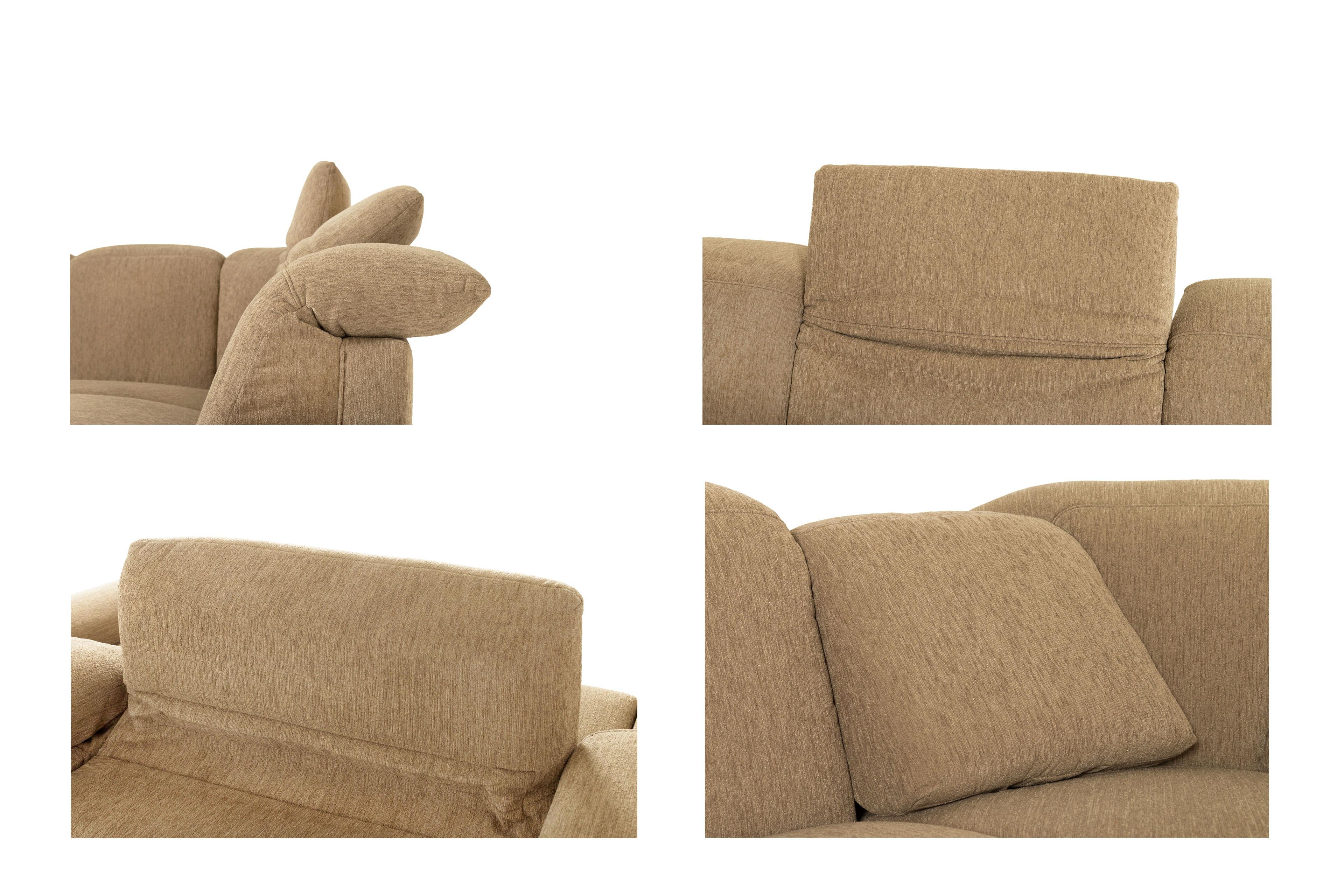 polstergarnitur hellbraun claude von casada m bel letz ihr online shop. Black Bedroom Furniture Sets. Home Design Ideas