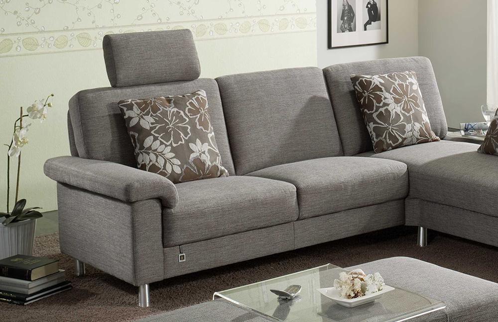 f s polsterm bel 470 easyline ecksofa grau m bel letz ihr online shop. Black Bedroom Furniture Sets. Home Design Ideas
