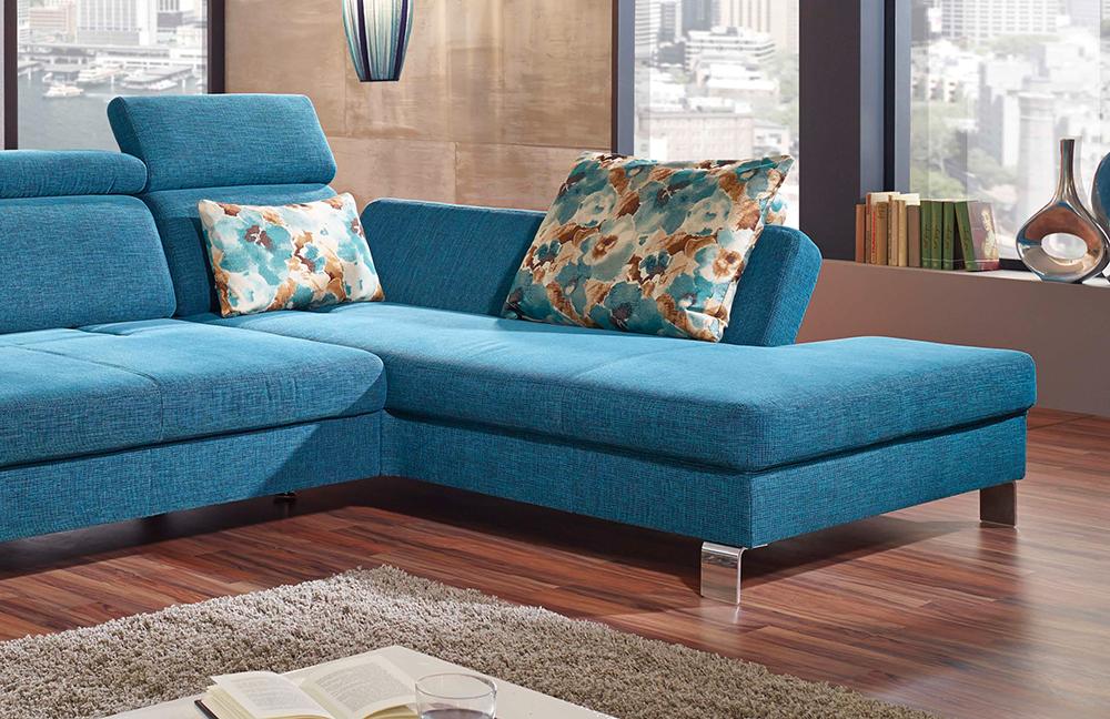 f s polsterm bel 239 lugano ecksofa petrol m bel letz. Black Bedroom Furniture Sets. Home Design Ideas
