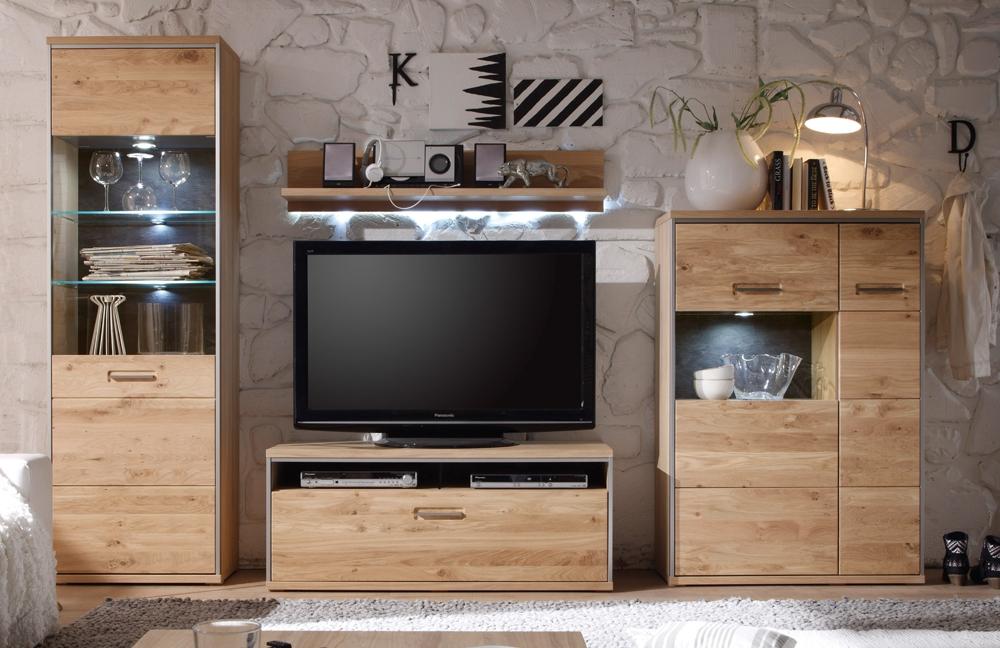 mca furniture wohnwand espero asteiche bianco eiche bianco m bel letz ihr online shop. Black Bedroom Furniture Sets. Home Design Ideas