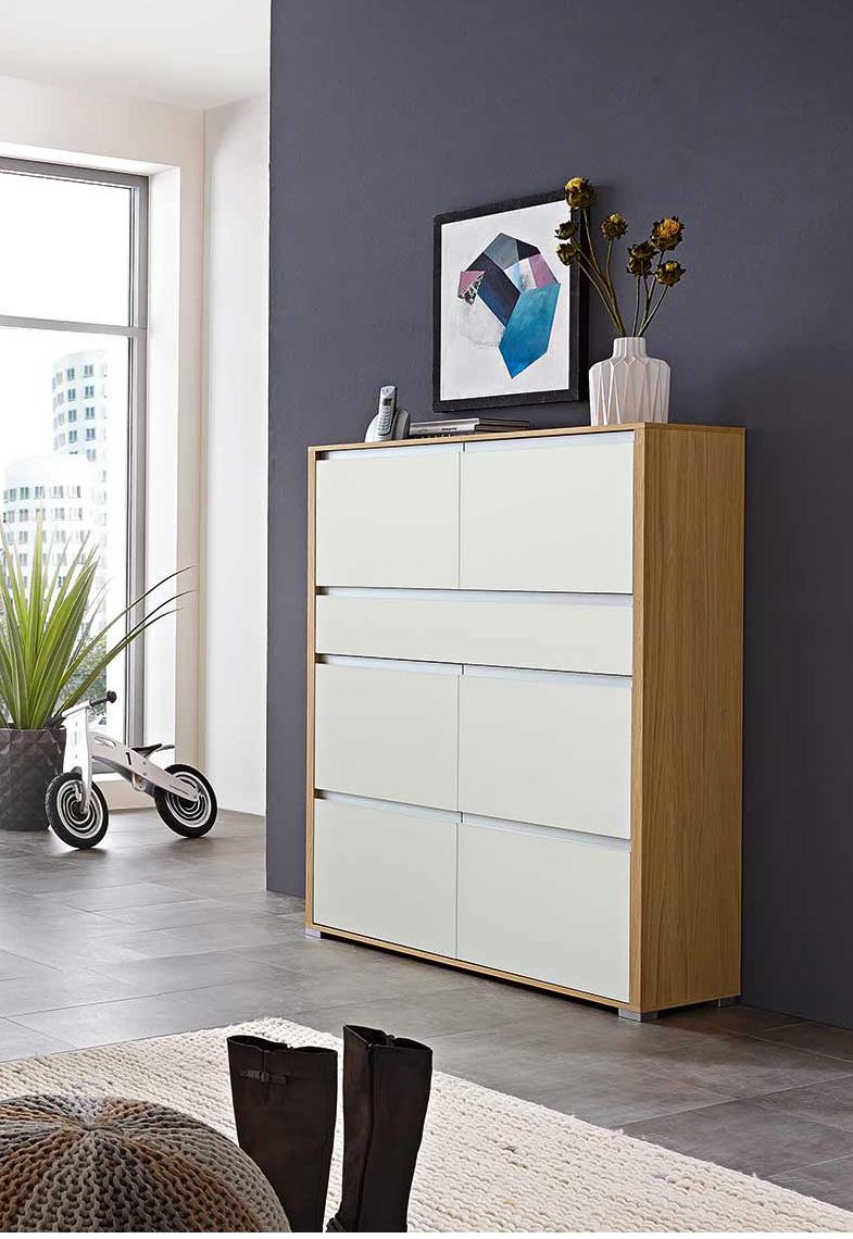 garderobe bari von leinkenjost in glas wei eiche bianco m bel letz ihr online shop. Black Bedroom Furniture Sets. Home Design Ideas