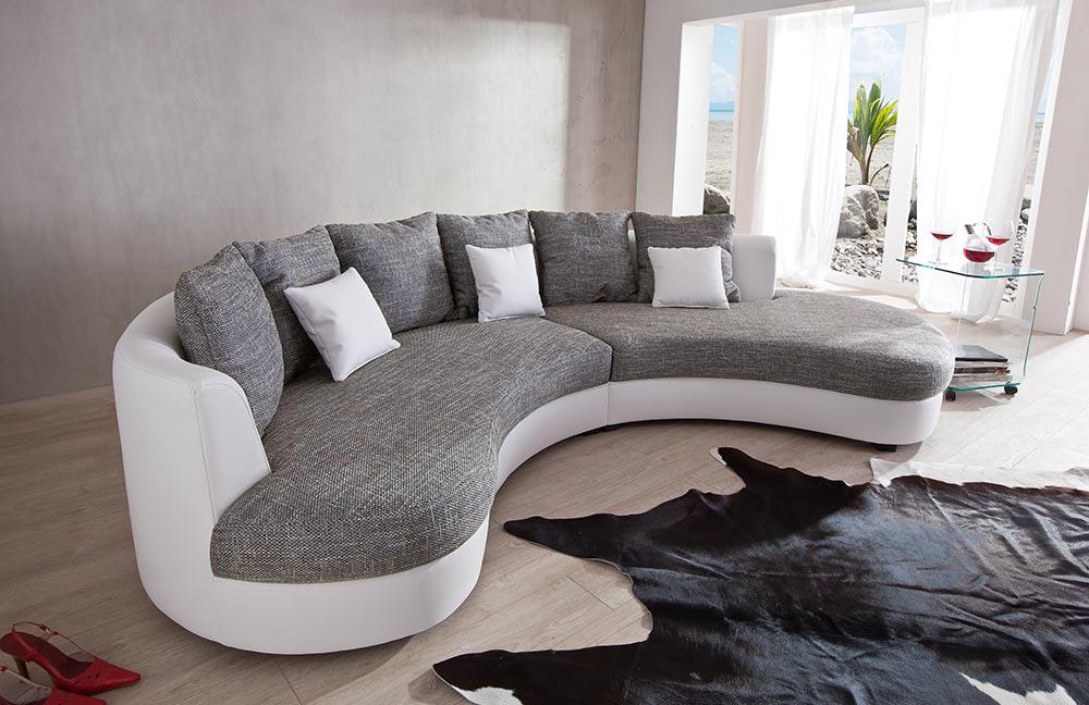 rundsofa limoncelli grau wei von benformato m bel letz. Black Bedroom Furniture Sets. Home Design Ideas