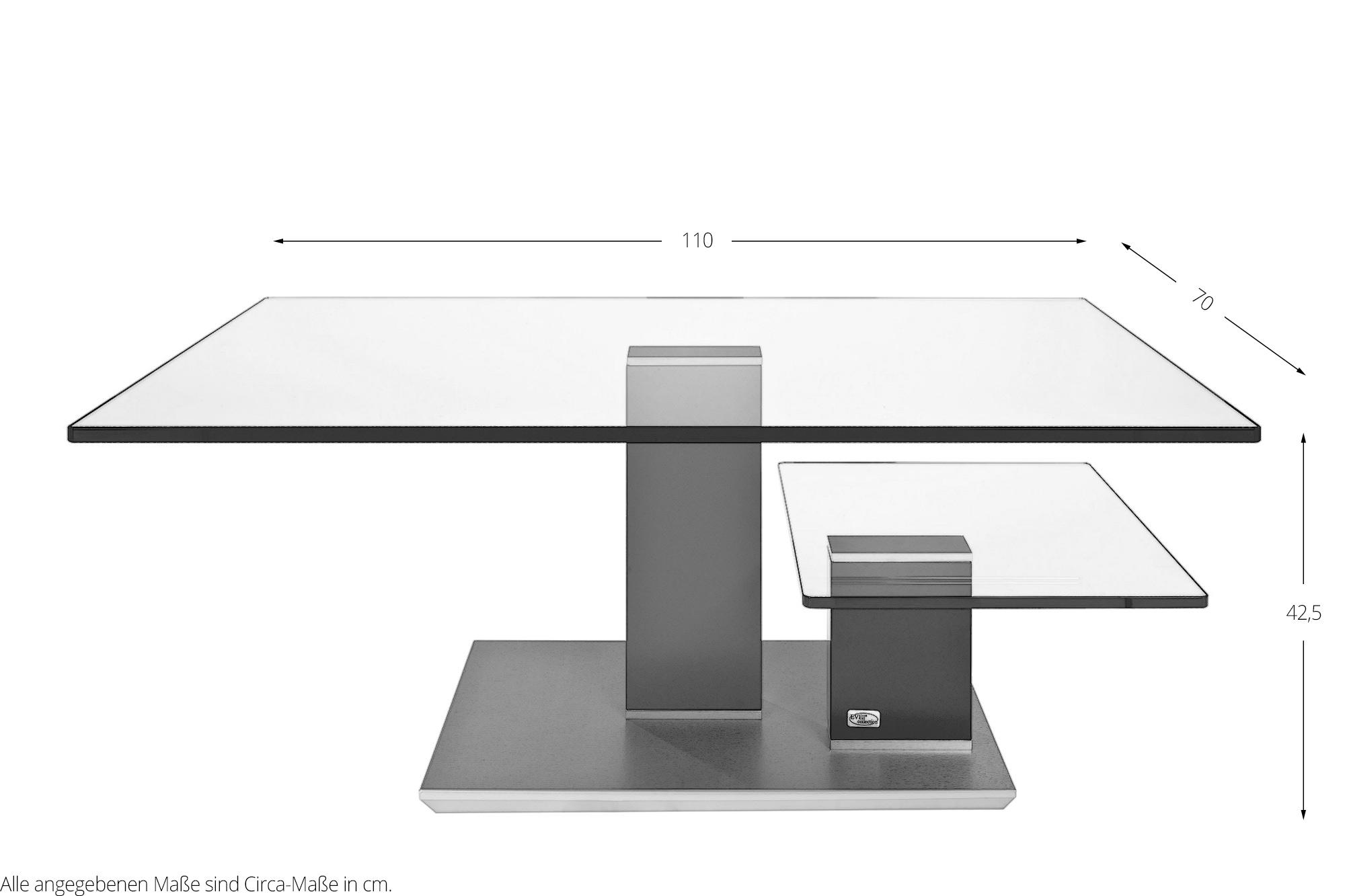 Couchtisch Brenzone in Graphit von EVE collection Möbel