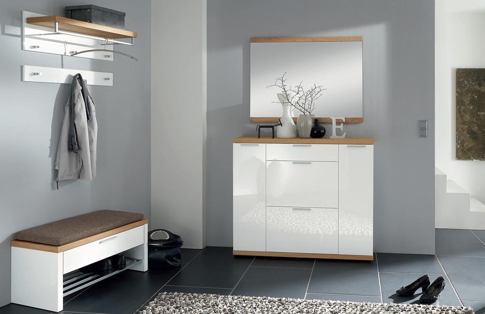 garderobe burgos vivien in wei eichevon voss m bel letz ihr online shop. Black Bedroom Furniture Sets. Home Design Ideas