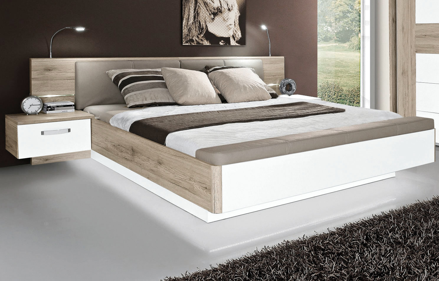 forte rondino schlafzimmer mit schweber m bel letz ihr online shop. Black Bedroom Furniture Sets. Home Design Ideas