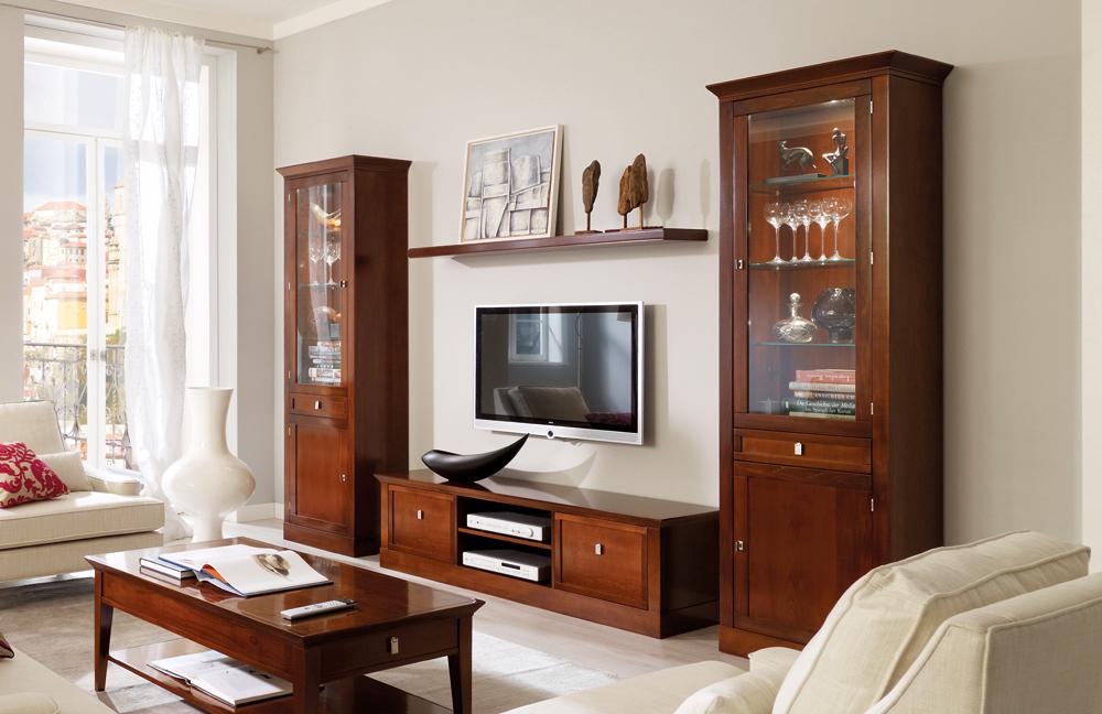 wohnwand sophia nussbaum antik von selva m bel letz. Black Bedroom Furniture Sets. Home Design Ideas