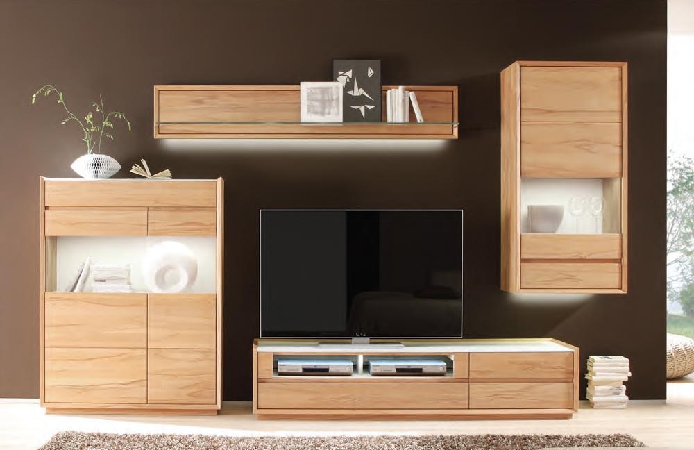 decker wohnwand montare 11529 wildeiche massiv bianco m bel letz ihr online shop. Black Bedroom Furniture Sets. Home Design Ideas
