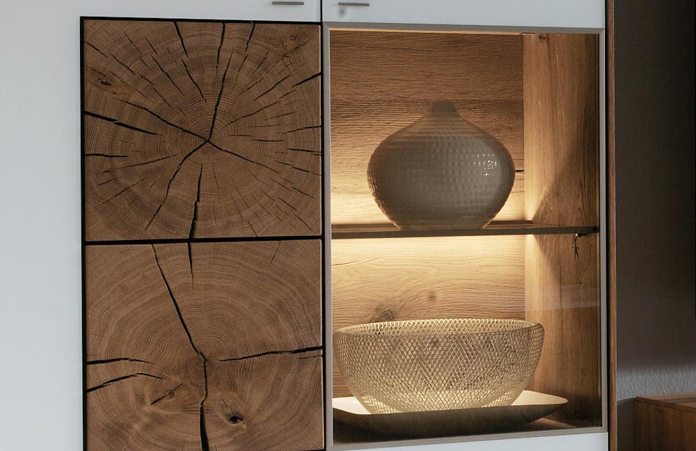 hartmann wohnwand hartmann wohnwand satin nussbaum eek a. Black Bedroom Furniture Sets. Home Design Ideas
