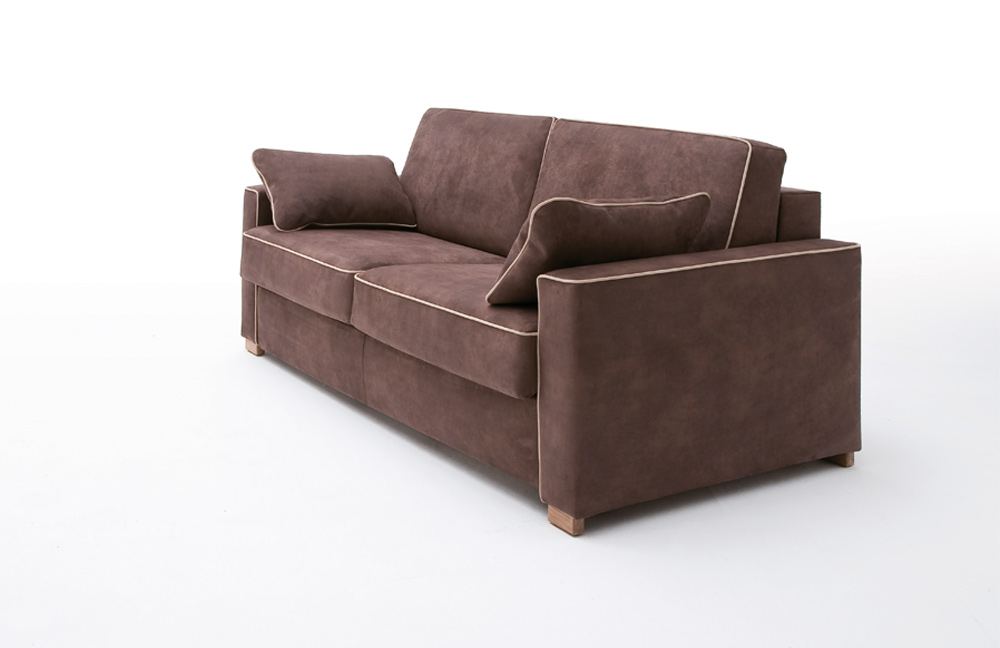 restyl clio schlafsofa in braun mit keder l m bel letz ihr online shop. Black Bedroom Furniture Sets. Home Design Ideas