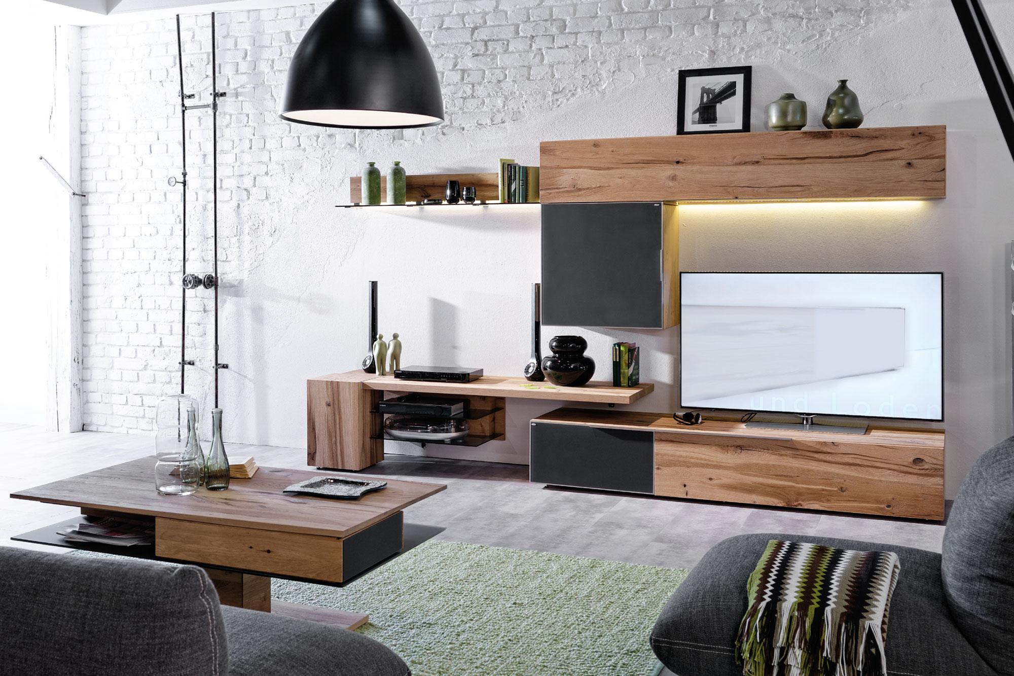wohnwand v alpin 448 von voglauer m bel letz ihr online shop. Black Bedroom Furniture Sets. Home Design Ideas