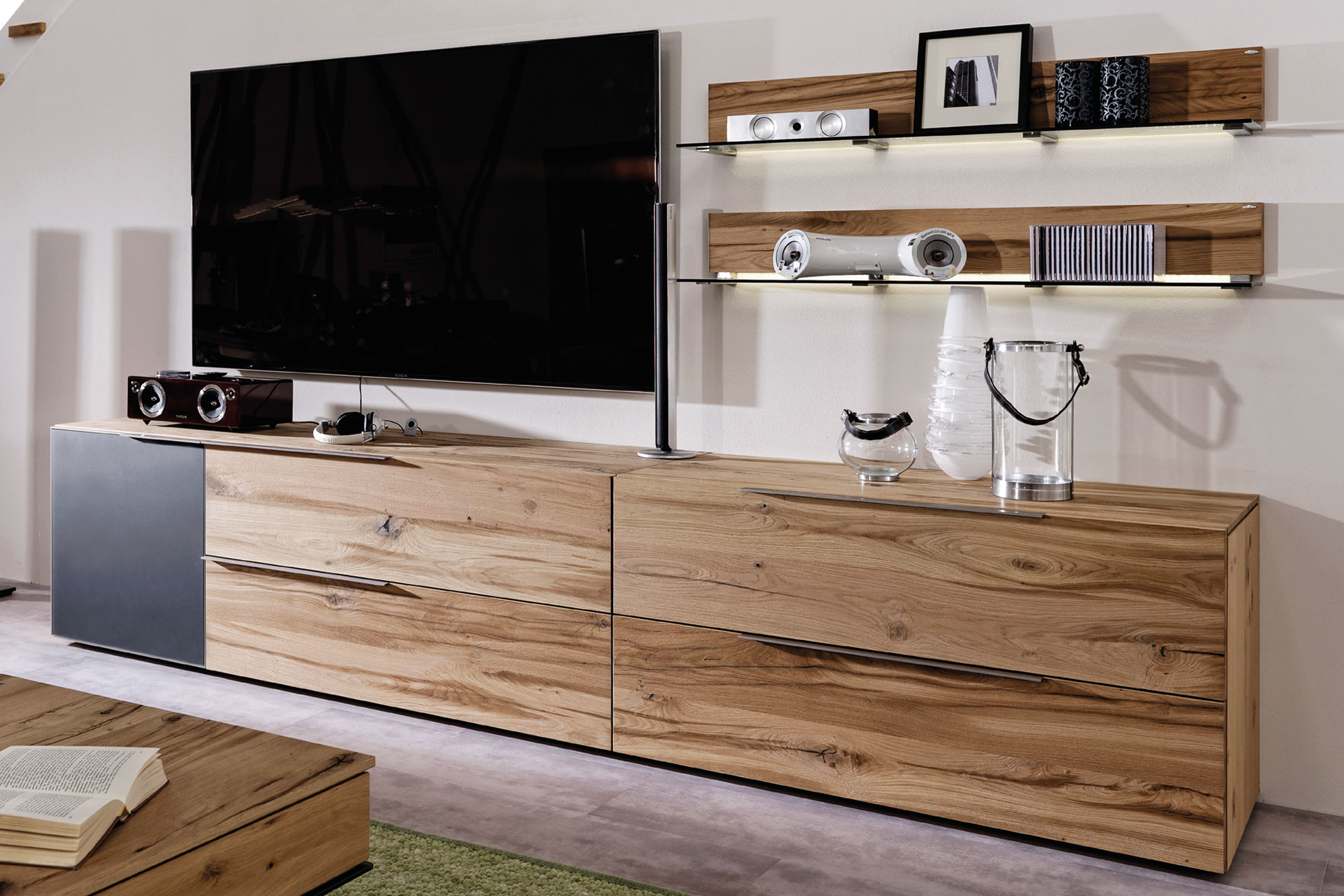 voglauer wohnwand v alpin 336 eiche anthrazit m bel letz ihr online shop. Black Bedroom Furniture Sets. Home Design Ideas