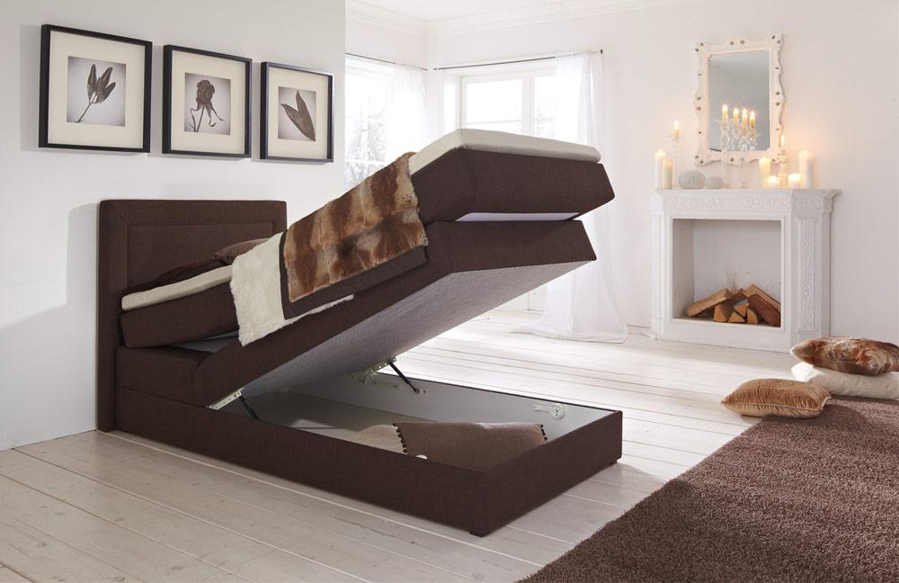 hapo schlafm bel oregon boxspringbett braun ca 100 x 200 cm m bel letz ihr online shop. Black Bedroom Furniture Sets. Home Design Ideas