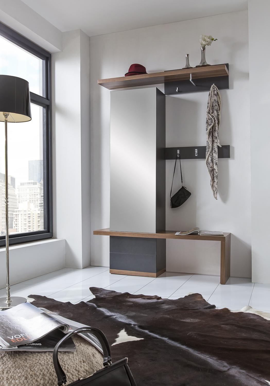 garderobe 01 nussbaum basalt von bienenm hle m bel letz. Black Bedroom Furniture Sets. Home Design Ideas