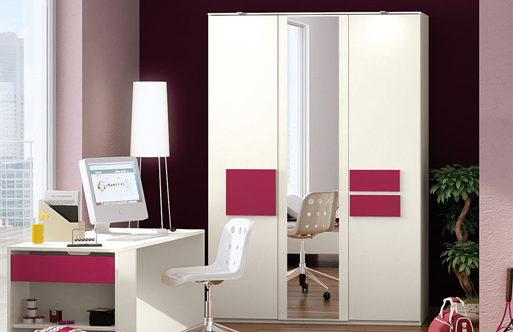 r hr bush hilight jugendzimmer wei fuchsia m bel letz ihr online shop. Black Bedroom Furniture Sets. Home Design Ideas