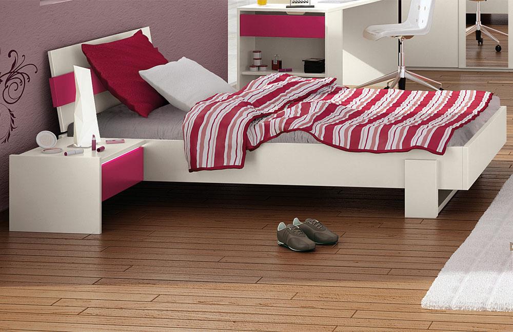 r hr bush hilight jugendzimmer wei fuchsia m bel letz ihr online shop. Black Bedroom Furniture Sets. Home Design Ideas