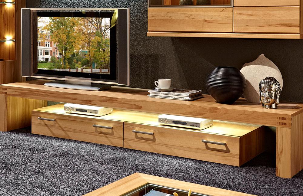schr der m bel wohnwand cara v11 kernbuche von m bel letz ihr online shop. Black Bedroom Furniture Sets. Home Design Ideas