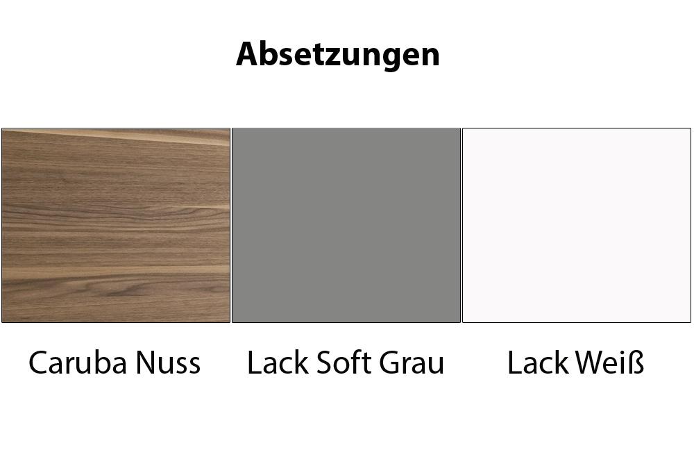 Esstisch Caruba Nuss ~ Kito Wohnwand 9777 Weiß Caruba Nuss von Loddenkemper  Möbel Letz  Ihr Onli