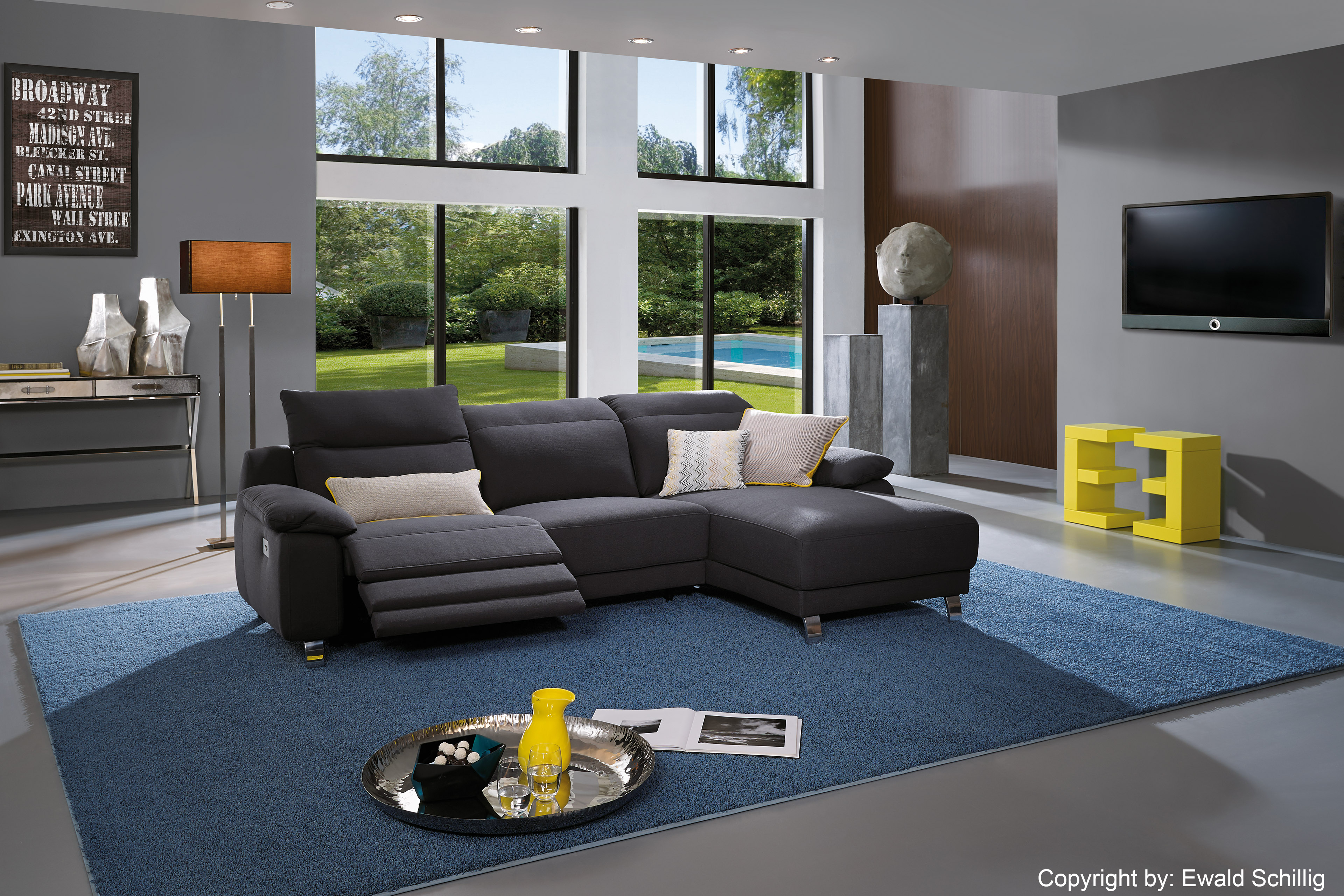 ewald schillig ecksofa lexington in graphit m bel letz. Black Bedroom Furniture Sets. Home Design Ideas