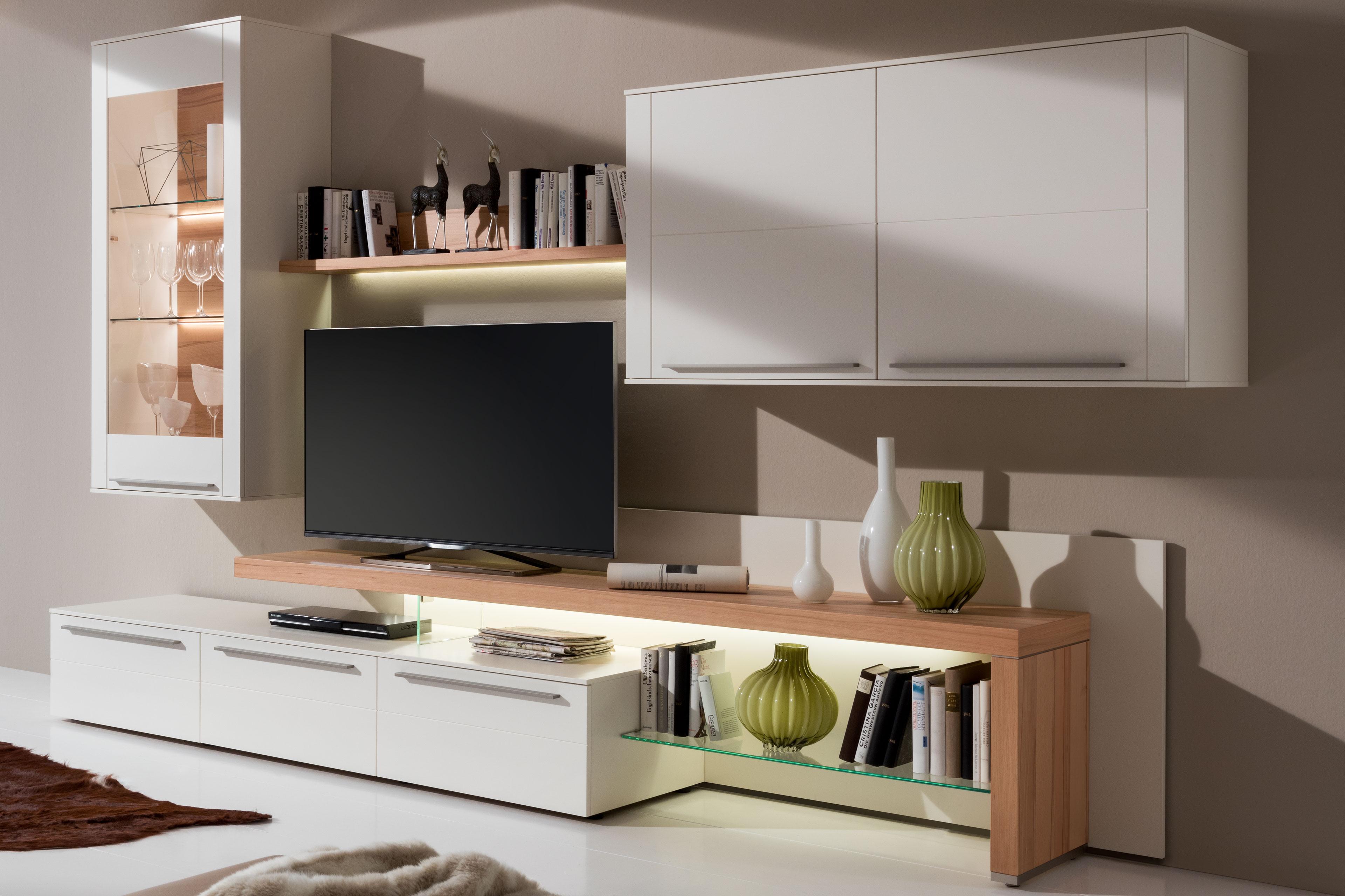 gwinner wohnwand bellano be19 wei kernbuche m bel letz ihr online shop. Black Bedroom Furniture Sets. Home Design Ideas