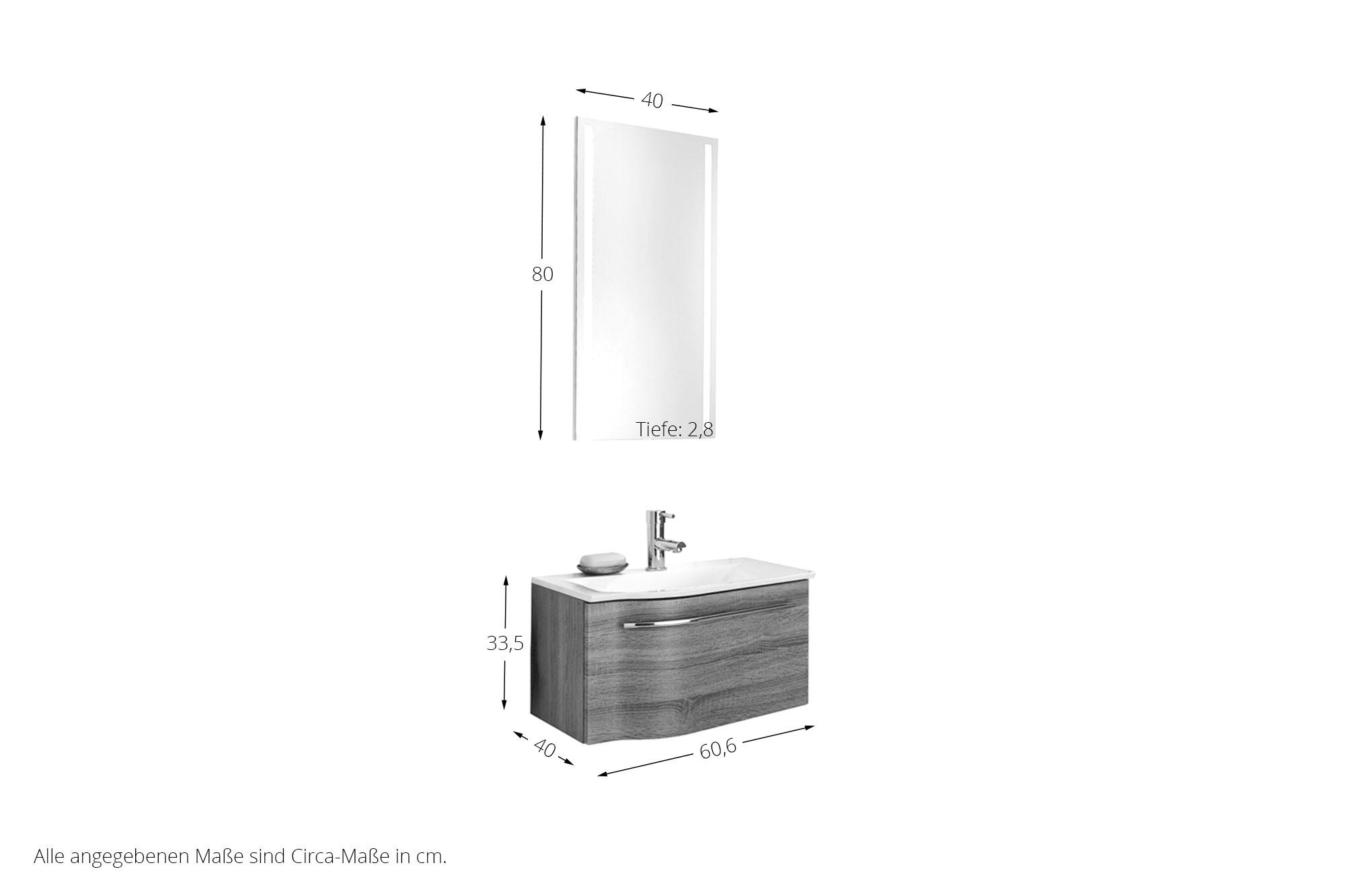badezimmer for guests eiche tr ffel von puris m bel letz. Black Bedroom Furniture Sets. Home Design Ideas