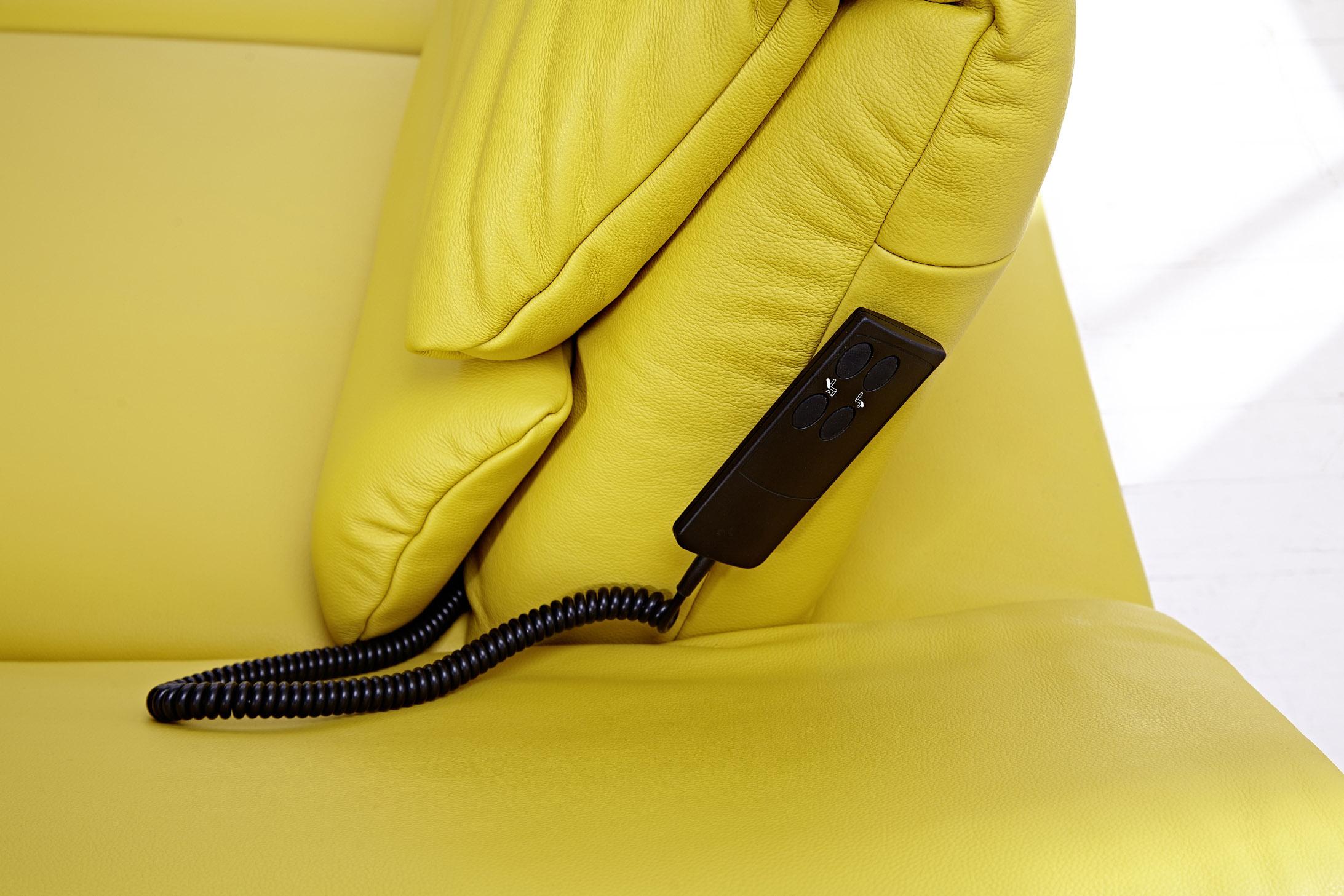 pm oelsa ledergarnitur san diego in gelb m bel letz. Black Bedroom Furniture Sets. Home Design Ideas