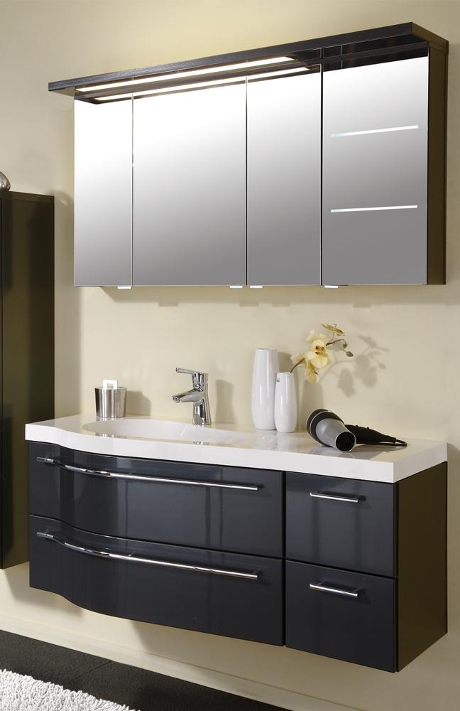 badezimmer swing von puris in anthrazit hochglanz m bel letz ihr online shop. Black Bedroom Furniture Sets. Home Design Ideas