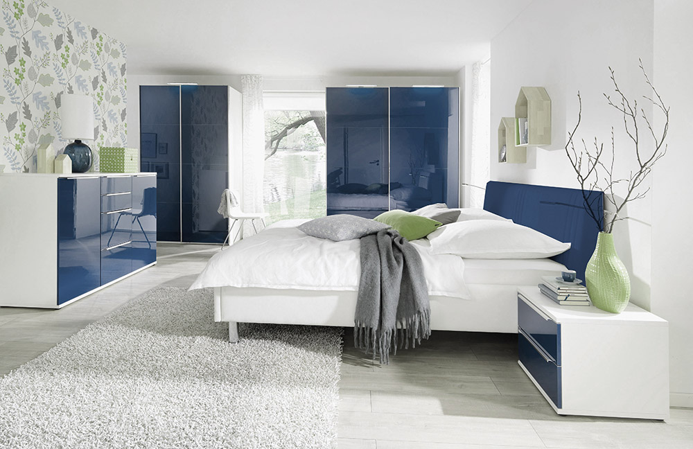 schlafzimmer blau gold inspiration f r. Black Bedroom Furniture Sets. Home Design Ideas
