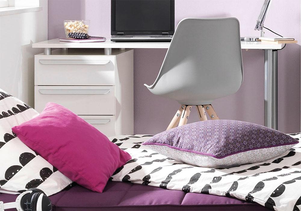 jugendzimmer wei lila interessante ideen. Black Bedroom Furniture Sets. Home Design Ideas