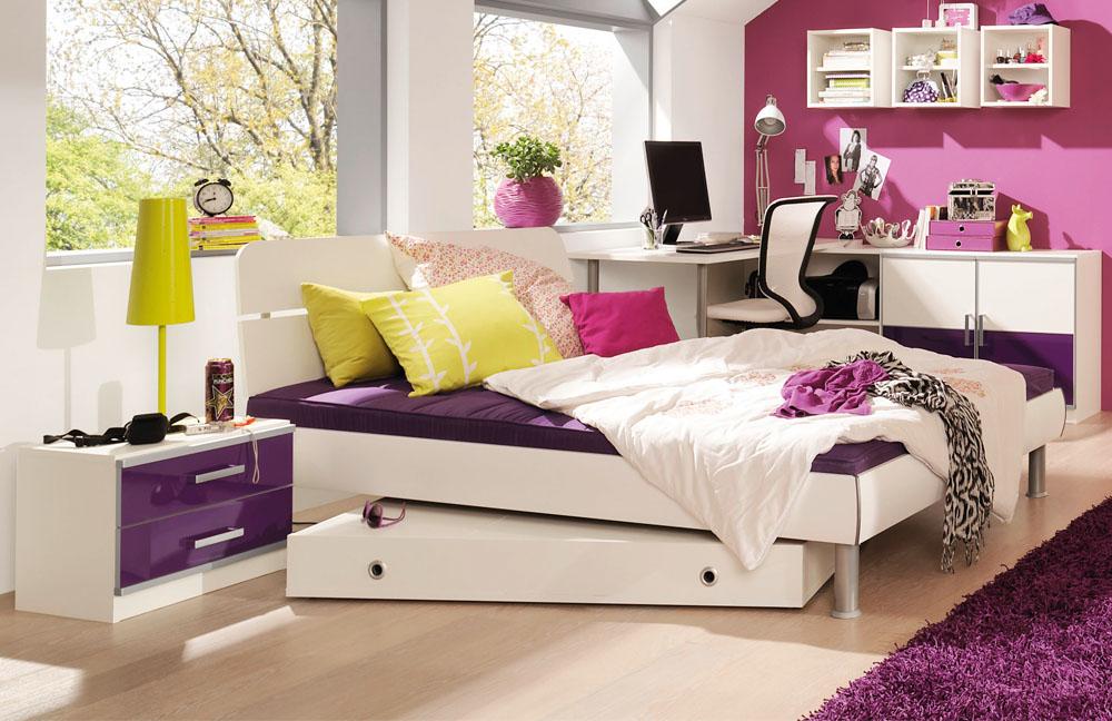 jugendzimmer wei lila interessante ideen f r die gestaltung eines raumes in. Black Bedroom Furniture Sets. Home Design Ideas