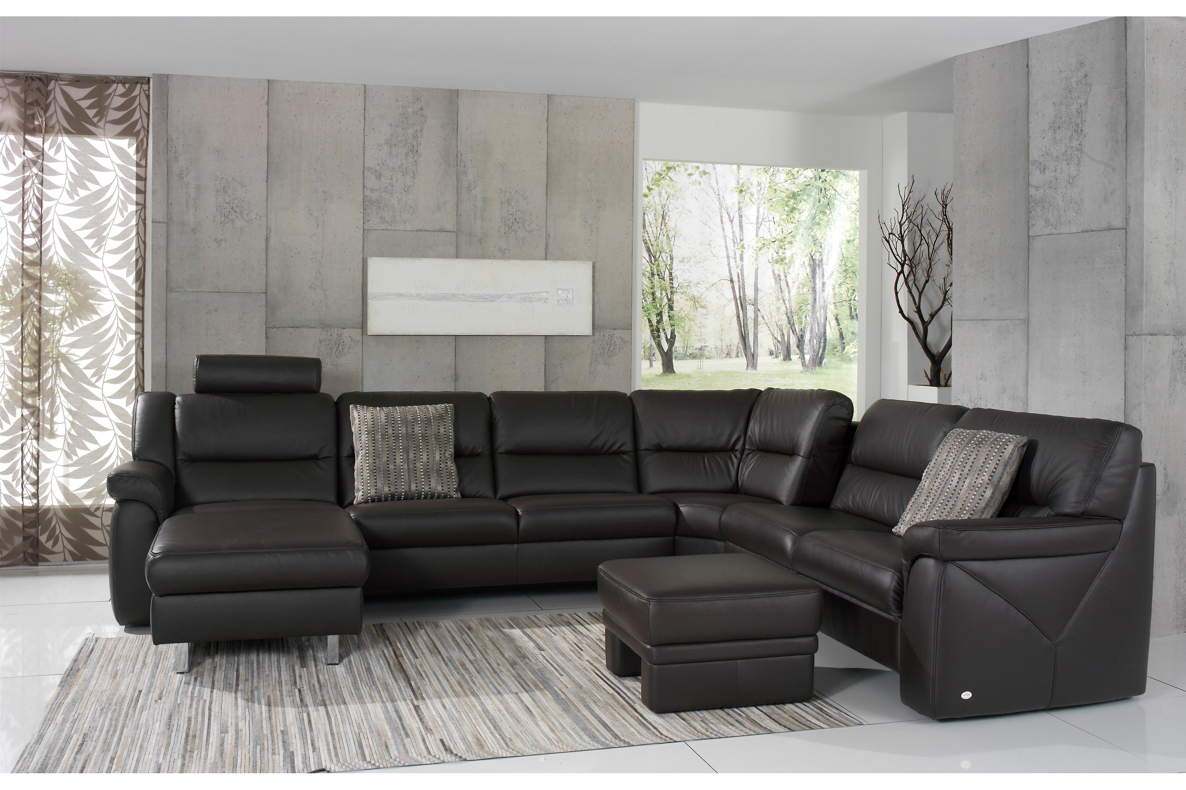 himolla polsterm bel ledergarnitur 1101 hobey grau braun m bel letz ihr online shop. Black Bedroom Furniture Sets. Home Design Ideas