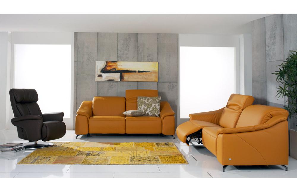 himolla 1421 havana ledersofa safran m bel letz ihr online shop. Black Bedroom Furniture Sets. Home Design Ideas