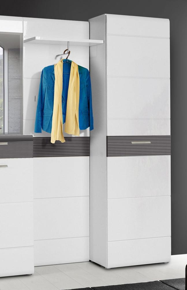garderobe ottawa wei grau von forte m bel letz ihr online shop. Black Bedroom Furniture Sets. Home Design Ideas