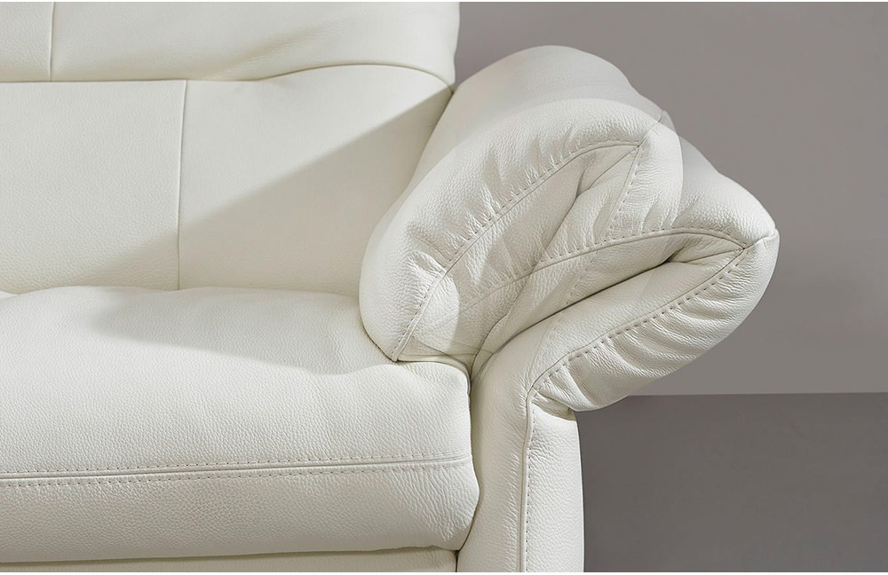 k w polsterm bel primo ledergarnitur wei m bel letz. Black Bedroom Furniture Sets. Home Design Ideas