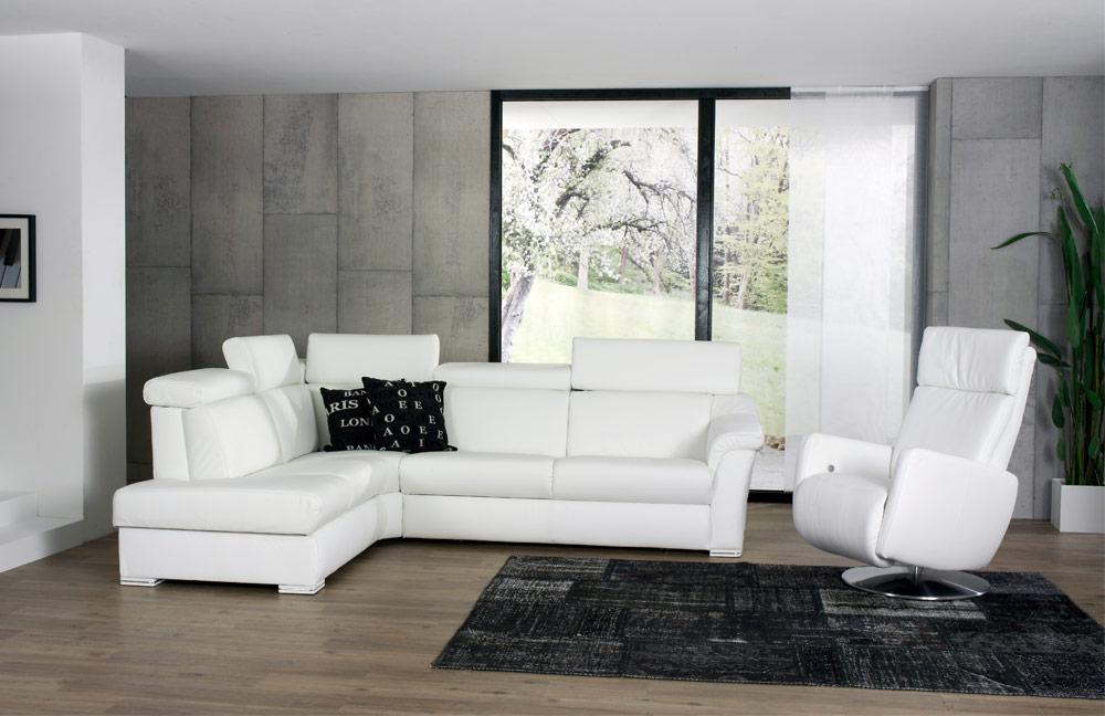 himolla polsterm bel ledersofa 1950 in wei m bel letz ihr online shop. Black Bedroom Furniture Sets. Home Design Ideas