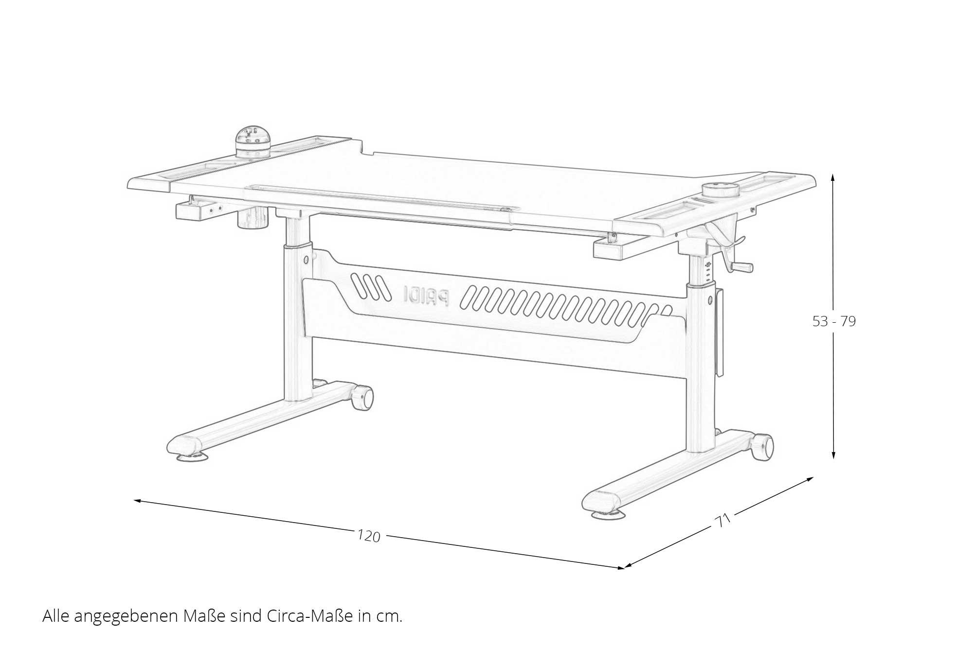 paidi tablo arbeitsplatz h henverstellbar m bel letz. Black Bedroom Furniture Sets. Home Design Ideas