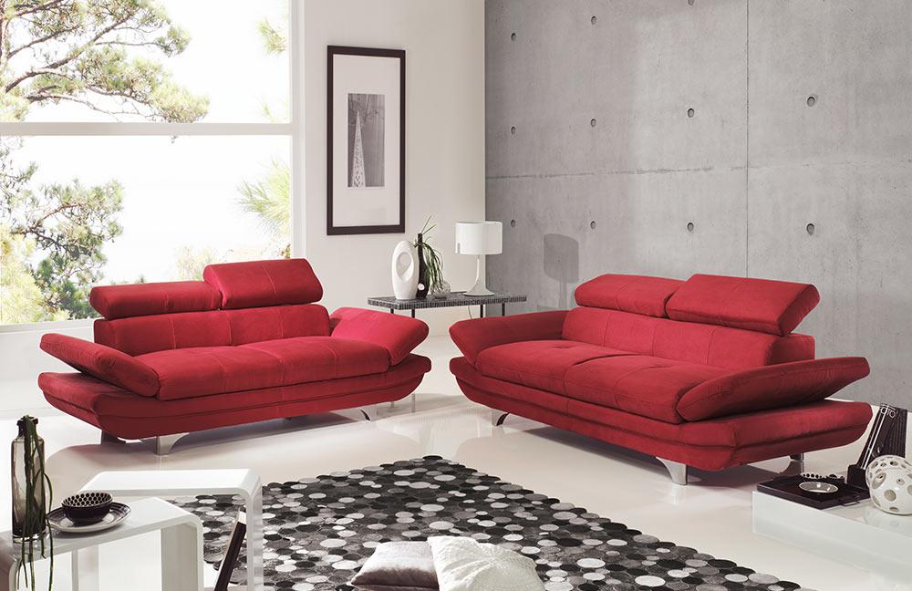 cotta enterprise polstergarnitur rot m bel letz ihr online shop. Black Bedroom Furniture Sets. Home Design Ideas