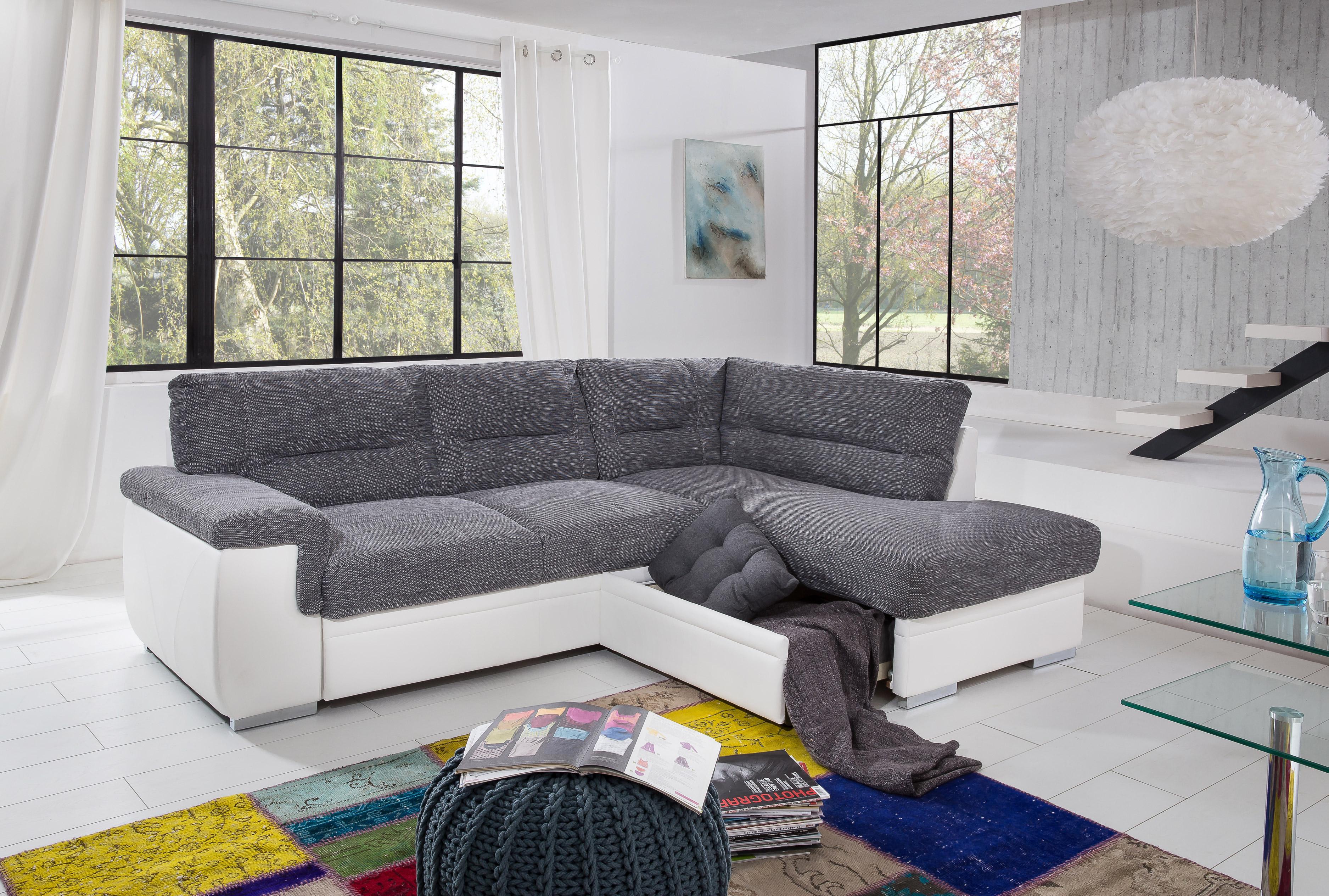 cotta odin eckcouch grau wei m bel letz ihr online shop. Black Bedroom Furniture Sets. Home Design Ideas