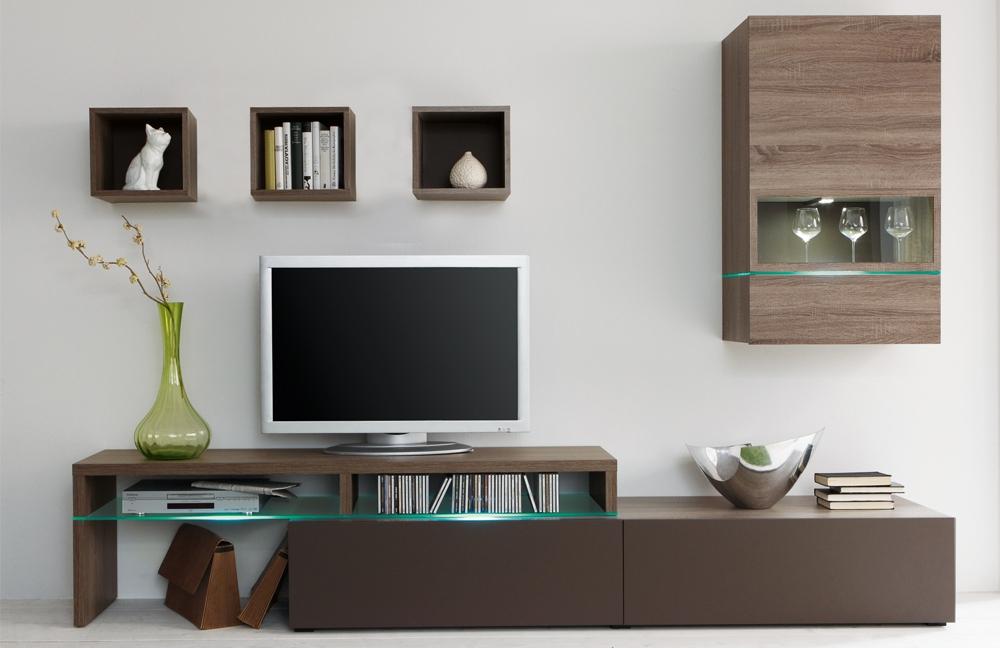 wohnwand colour art 010 sonoma tr ffel lava von cs schmalm bel m bel letz ihr online shop. Black Bedroom Furniture Sets. Home Design Ideas
