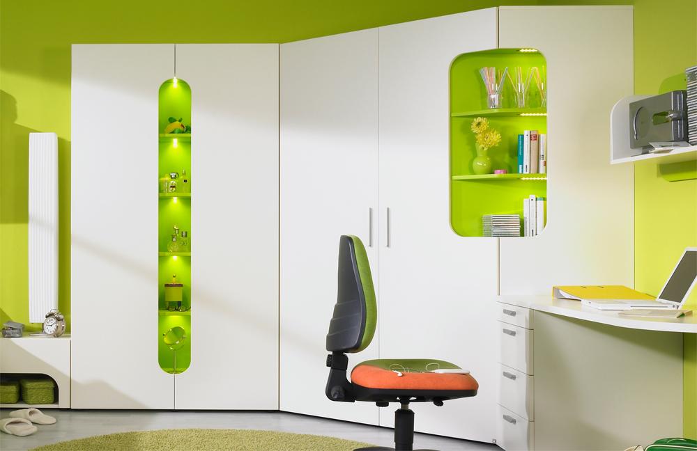 rudolf max i jugendzimmer creme gr n m bel letz ihr online shop. Black Bedroom Furniture Sets. Home Design Ideas