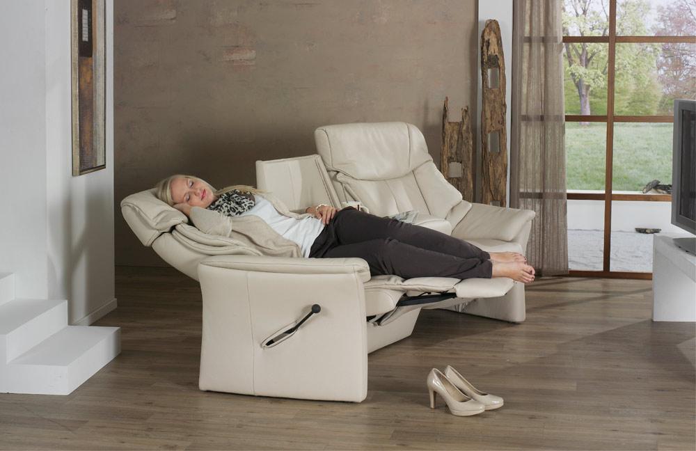 himolla polsterm bel 4124 trapezsofa in beige m bel letz ihr online shop. Black Bedroom Furniture Sets. Home Design Ideas
