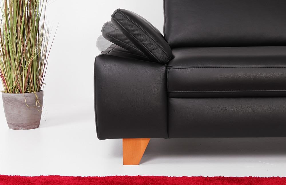 dfm aspen ledercouch schwarz m bel letz ihr online shop. Black Bedroom Furniture Sets. Home Design Ideas