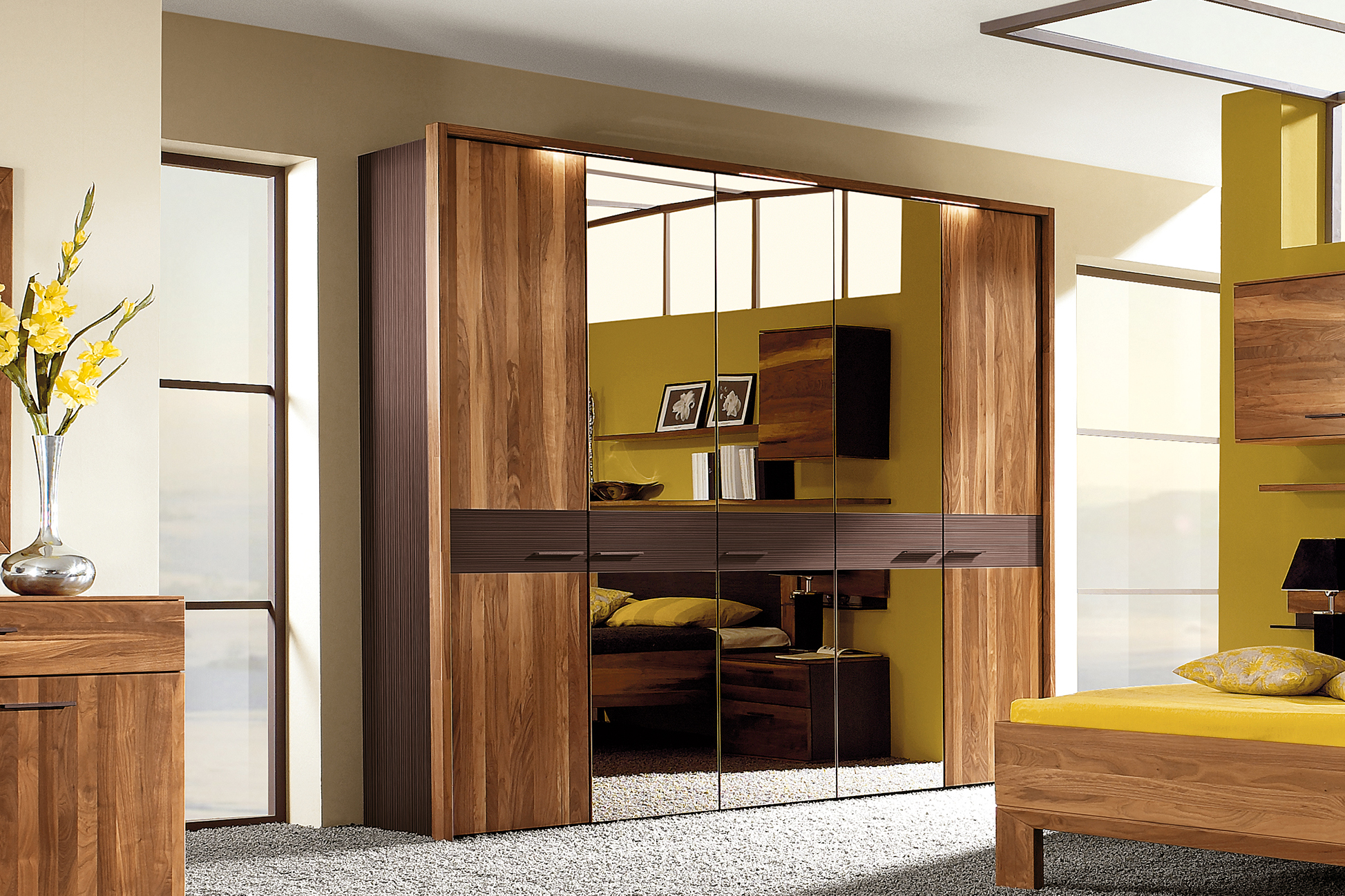 thielemeyer schlafzimmer mali nussbaum massiv m bel letz ihr online shop. Black Bedroom Furniture Sets. Home Design Ideas