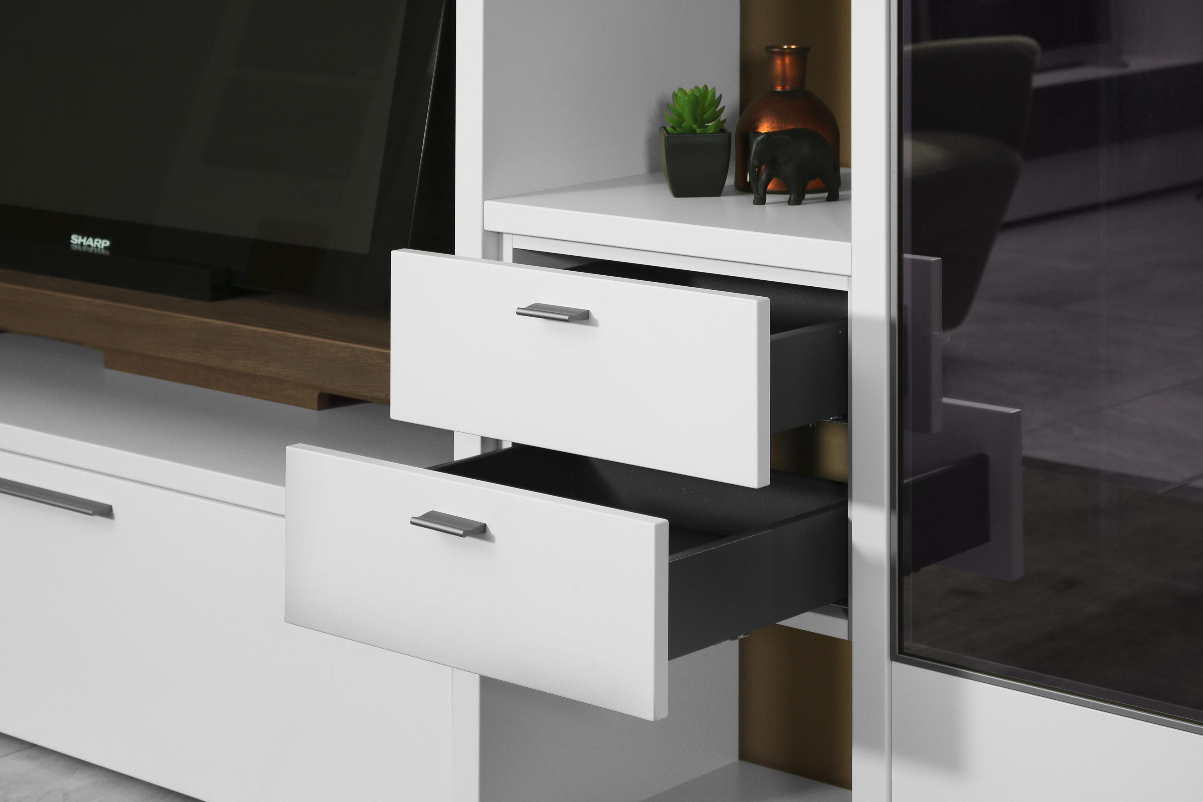 wohnwand cecado 0005 inklusive zubeh r von w stmann designm bel m bel letz ihr online shop. Black Bedroom Furniture Sets. Home Design Ideas
