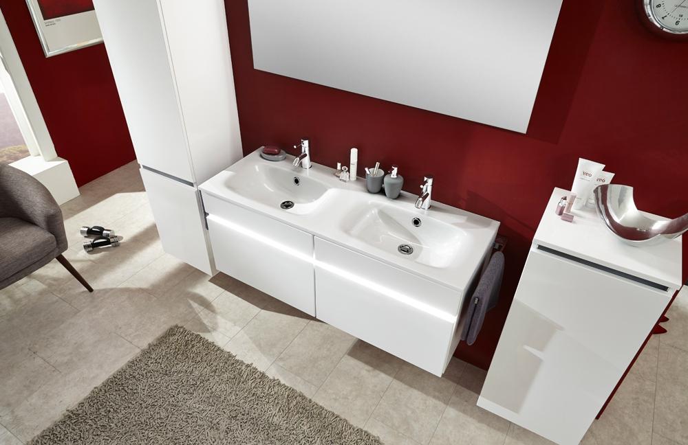 Badezimmer-Set IDEA Weiß Seidenglanz von Marlin  Möbel Letz - Ihr ...